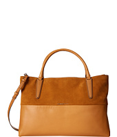 COACH - Large Soft Borough Retro Glove Tan Leather and Suede