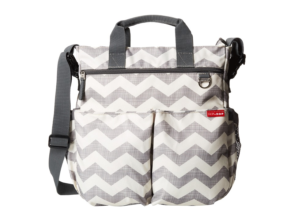 Skip Hop Duo Signature Diaper Bag Chevron/Grey/Off White Diaper Bags