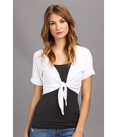 Christin Michaels - Front Tie Short Cardigan