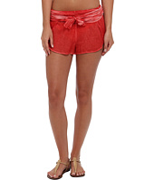 Vix - Sofia by Vix Solid Peach Crossed Short Cover-Up