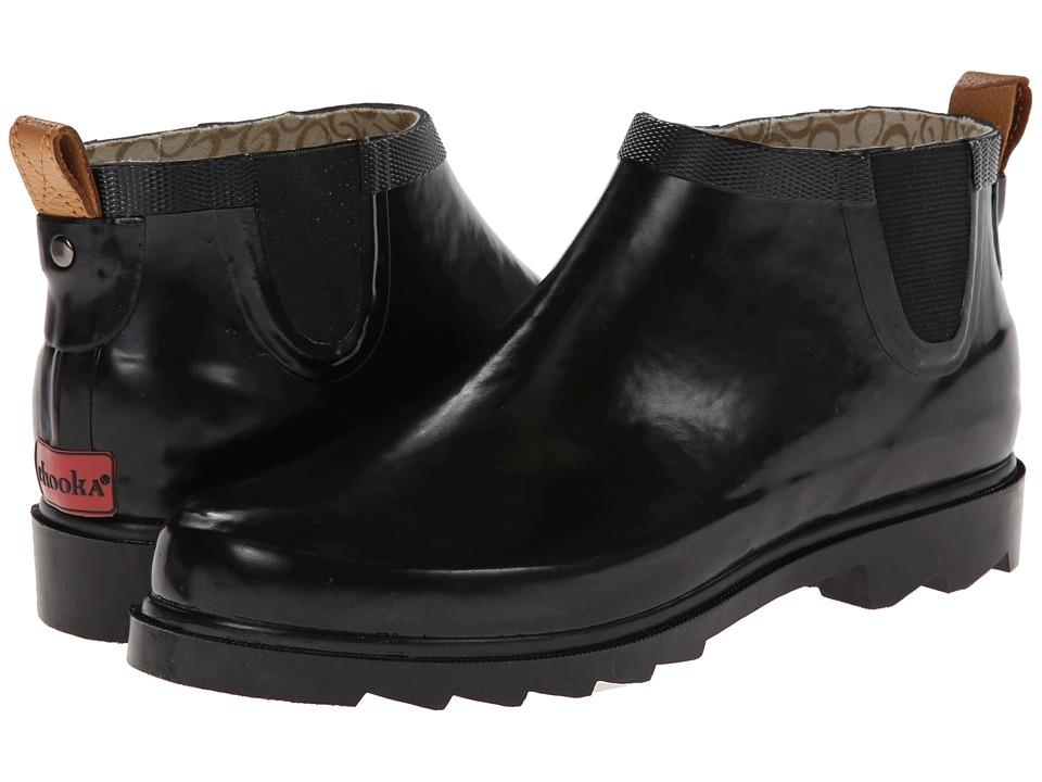Chooka Top Solid Low Rain Boot Black Womens Rain Boots