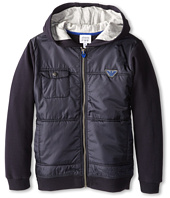 Armani Junior - Cotton & Nylon Zipup Jacket (Toddler/Little Kids/Big Kids)