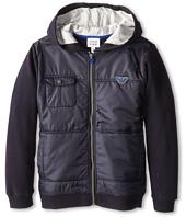 Armani Junior - Cotton & Nylon Zipup Jacket (Toddler/Little Kids/Big Kids)