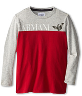 Armani Junior - Two-Tone Long Sleeve T-Shirt w/