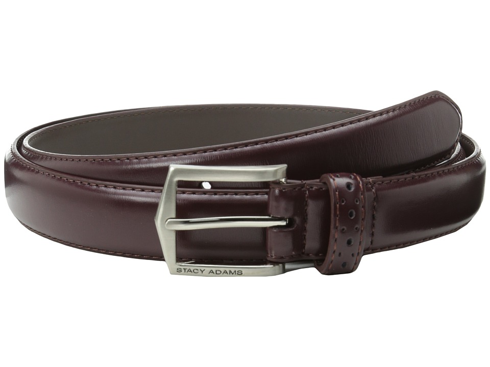 Stacy Adams 30mm Pinseal Leather Belt X (Cordovan) Men