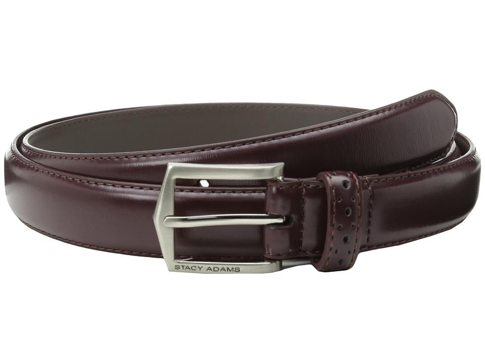 Stacy Adams 30mm Pinseal Leather Belt X (Cordovan) Men's ...