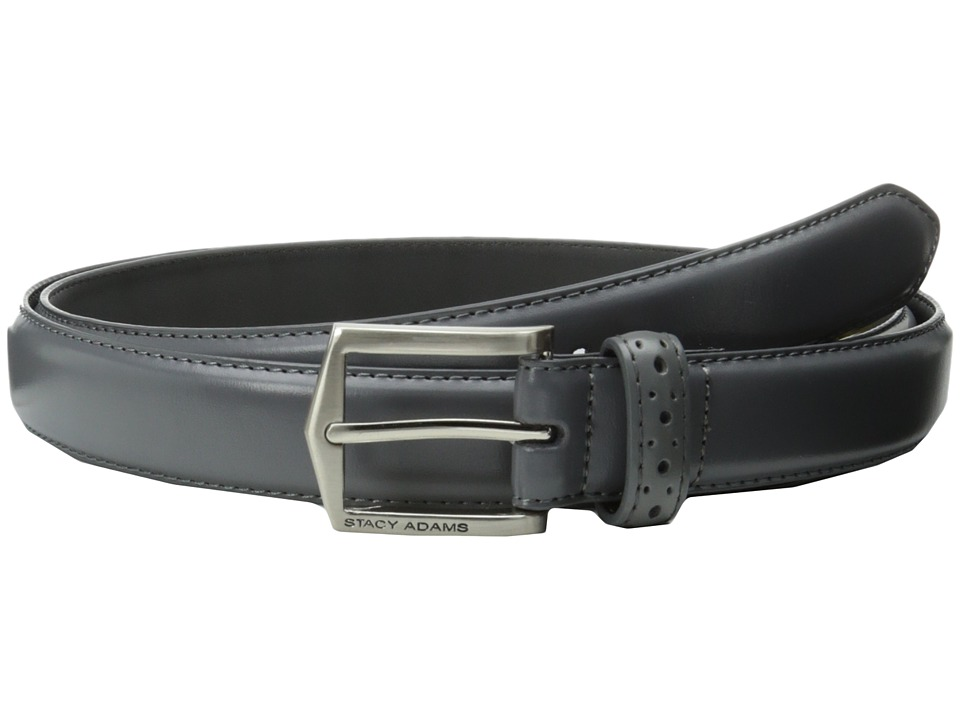 Stacy Adams 30mm Pinseal Leather Belt X Gray Mens Belts