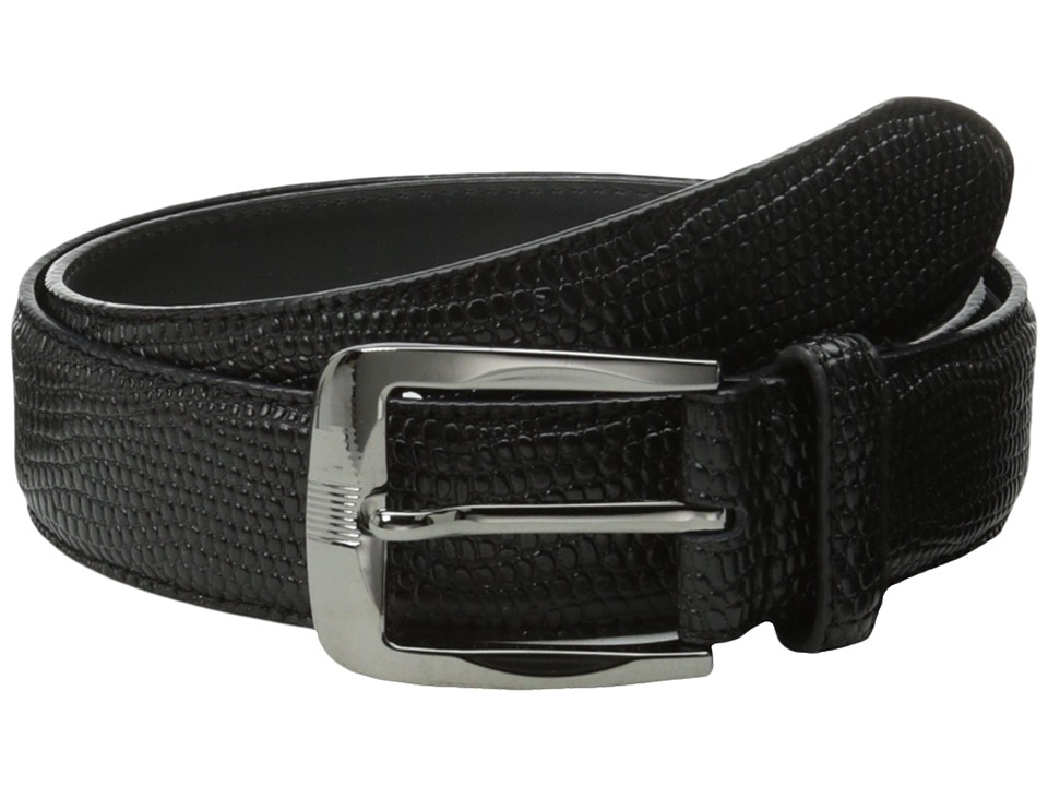Stacy Adams 32mm Lizard Skin Embossed Leather (Black) Men