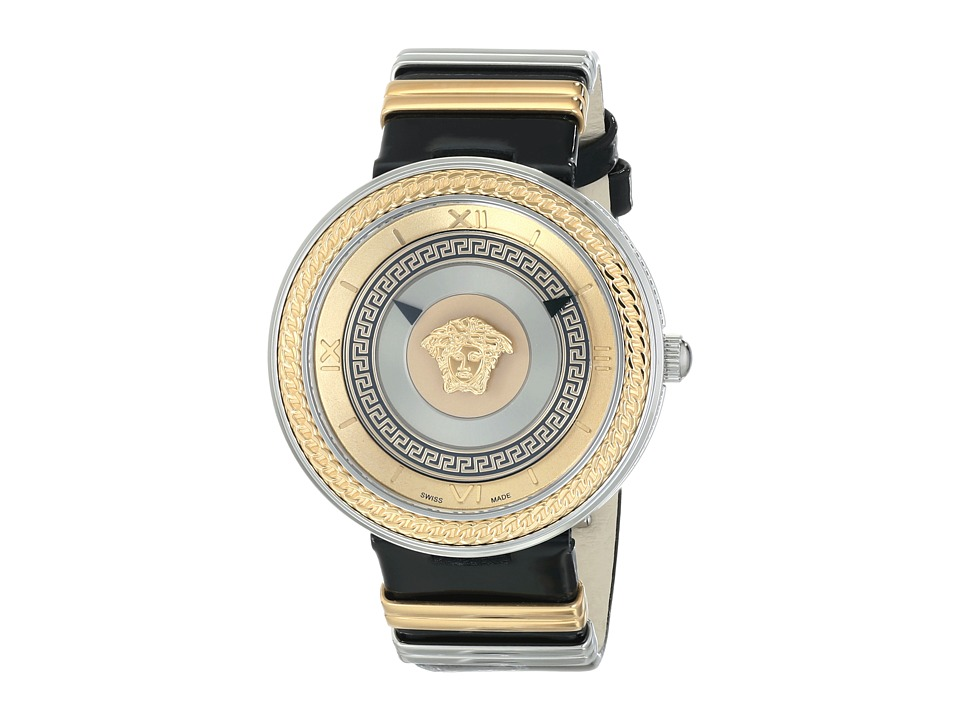 Versace V Metal Icon VLC02 0014 Stainless Steel/Rose Gold/Black Watches