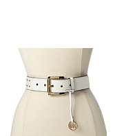 MICHAEL Michael Kors - 38mm Belt with/ Piping And Studding Detail