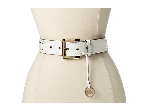 MICHAEL Michael Kors 38mm Belt with/ Piping And Studding Detail