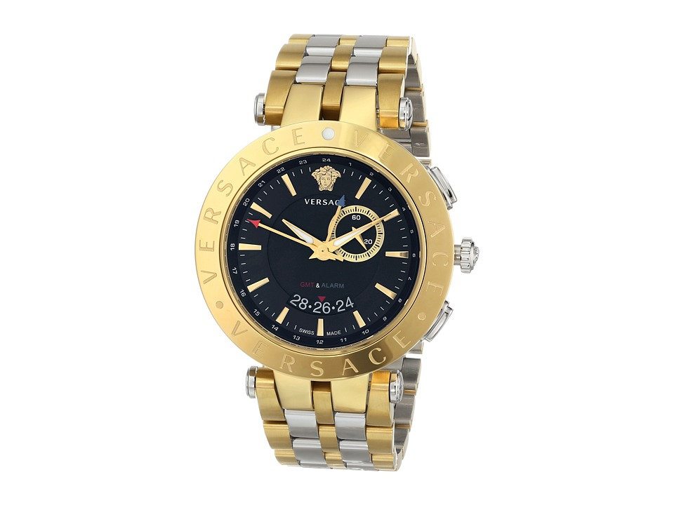 Versace V Race GMT 29G79D009 S079 Stainless Steel/Yellow Gold Watches