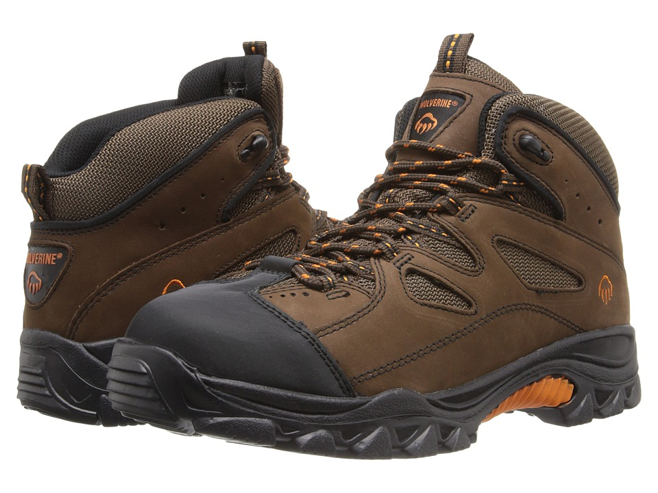 Wolverine - Hudson Wolverine Hiker (Brown/Black) Mens Hiking Boots