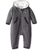 Armani Junior - Hooded Zip Up Jumpsuit (Infant)