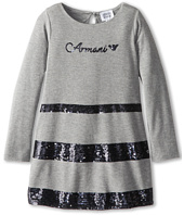 Armani Junior - Dress With Black Sequin Stripes (Toddler/Little Kids/Big Kids)