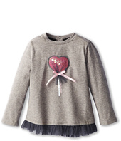 Armani Junior - Long Sleeve T-Shirt w/ Heart Lollipop Graphic (Infant)