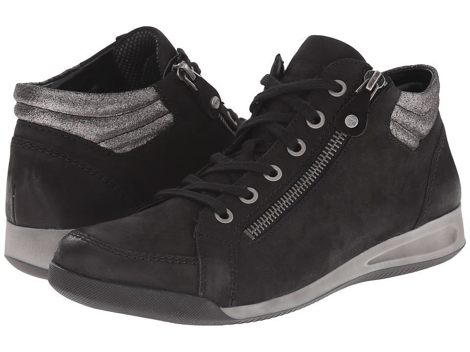 ara Rylee (Black Brushed Nubuk/Gun Metallic) Women