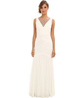 Adrianna Papell - Shirred Jewelry Gown
