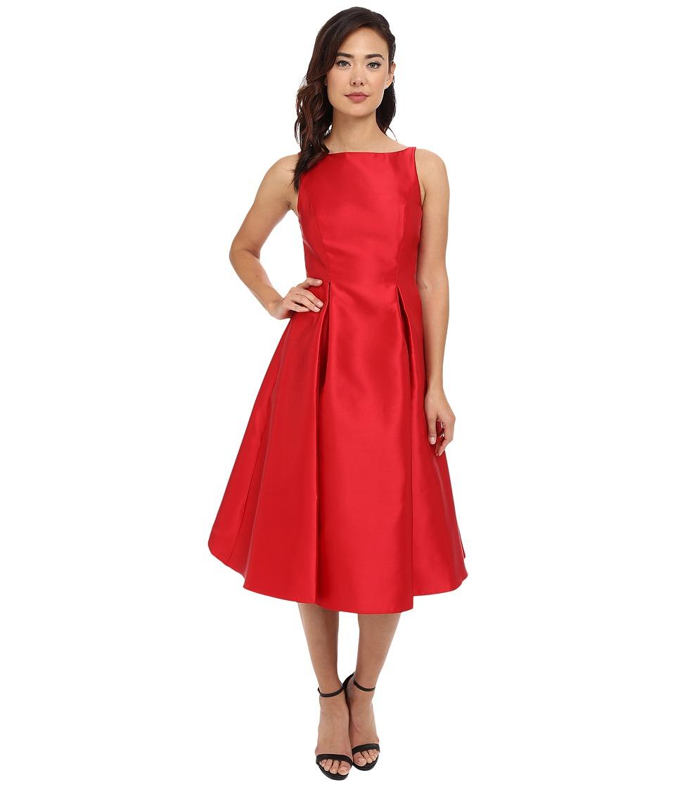 Adrianna Papell Sleeveless Tea Length Dress Red Womens Dress