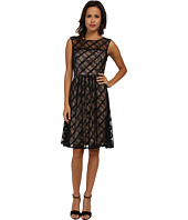 Adrianna Papell - Sweetheart Plaid Lace Dress
