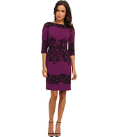 Adrianna Papell - Fitted Placed Printed Lace
