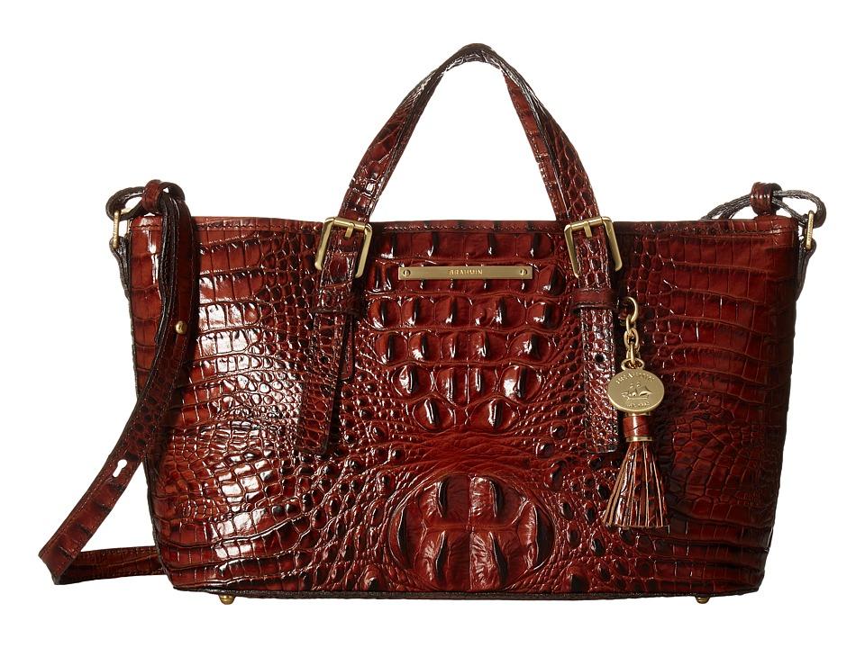Brahmin Mini Asher Pecan Satchel Handbags
