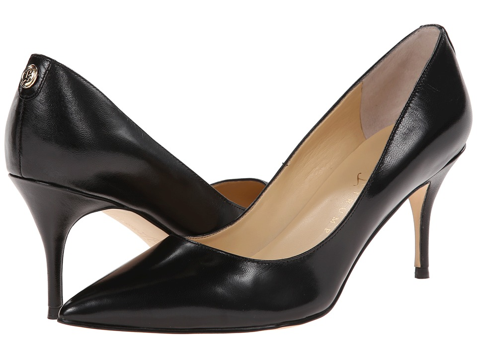 Ivanka Trump Tirra (Black Leather) High Heels