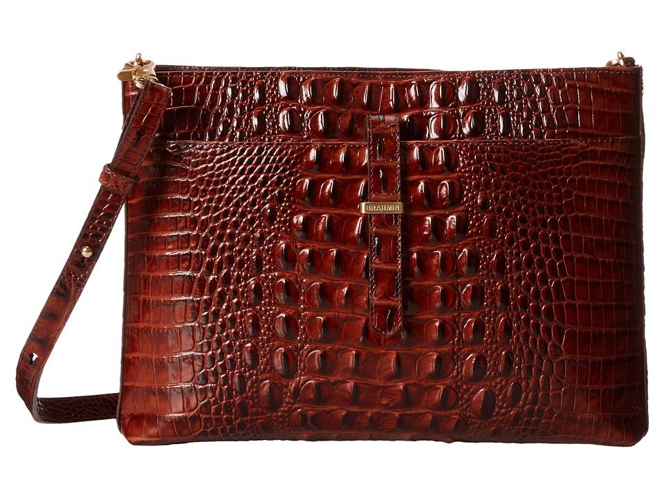 Brahmin All Day Convertible Pecan Cross Body Handbags
