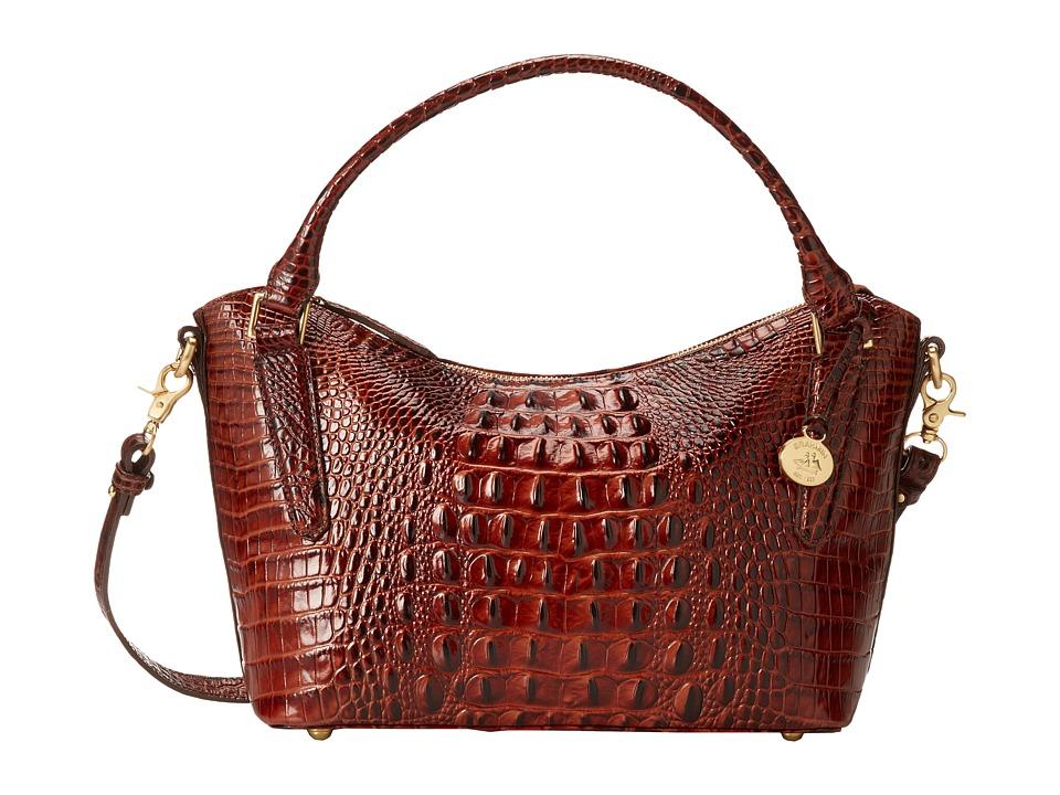 Brahmin Small Norah Pecan Satchel Handbags