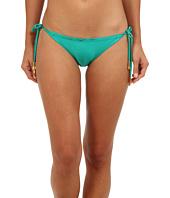 Vix - Solid Green Ripple Tie Full Bottom