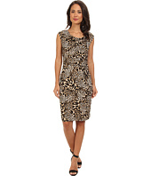 Calvin Klein - Print Cowl Neck Short Dress