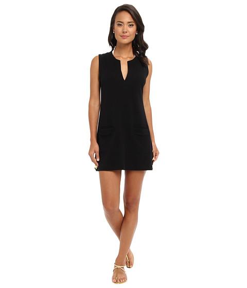 LAUREN by Ralph Lauren Button Sleeveless Tunic Cover Up (Black) Women's Swimwear