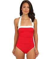 LAUREN by Ralph Lauren - Bel Aire Shirred Bandeau Mio Slimming Fit One-Piece