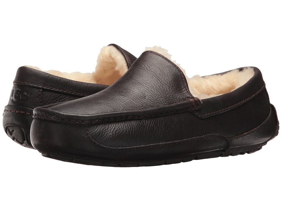 Ugg Ascot Leather (China Tea Leather) Men's Slippers