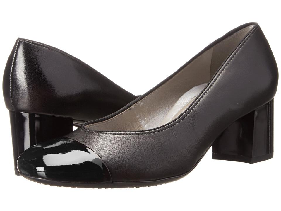 ara - Lian (Black Leather/Patent Toe) High Heels
