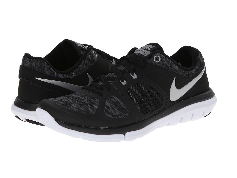 Nike Flex 2014 RN Flash (Black/Reflective Silver/Metallic Dark Grey) Women's Running Shoes