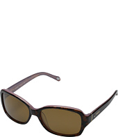 Fossil - Lynn Rectangle Sunglasses - Polarized