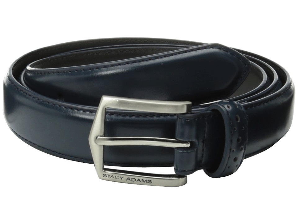 Stacy Adams 30mm Pinseal Leather Belt X (Blue) Men