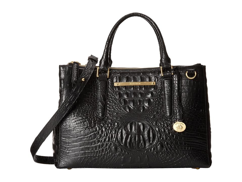 Brahmin Small Lincoln Satchel Black Satchel Handbags