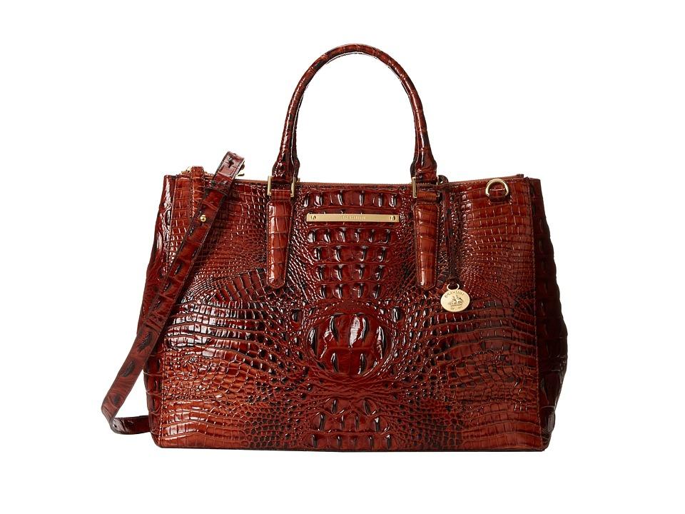 Brahmin Lincoln Satchel Pecan Satchel Handbags