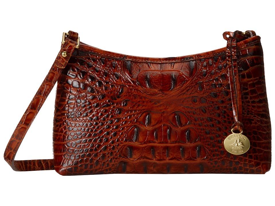 Brahmin Anytime Mini Pecan Shoulder Handbags