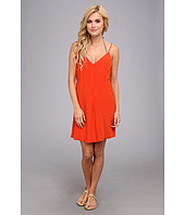Vix - Solid Orange Papi Short Dress Cover-Up
