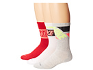 Nike Dri-FIT Crew Sock 3-Pair Pack (White/Hyper Punch/Gym Red/Hyper Punch/Grey Heather/Volt)