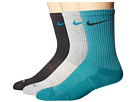 Nike 3 Pair Pack Dri-Fit Cushion Crew (Catalina/Anthracite/Grey Heather/Catalina/Anthracite/Catalina)