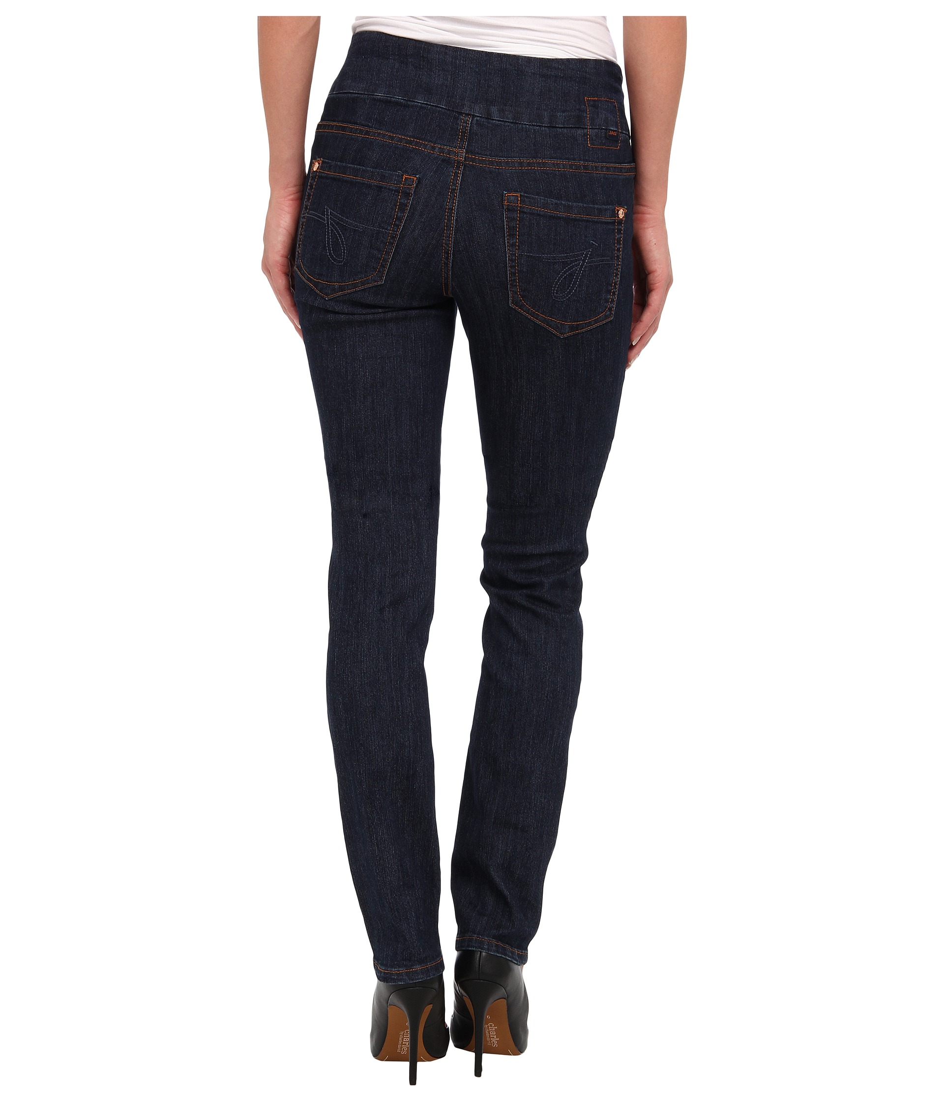 Jag Jeans Malia Pull-On Slim in Dark Shadow at Zappos.com