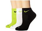 Nike Dri-FIT Cushion Quarter 3 Pack (Cyberer/Black/White/Cyberer/Black/Cyberer)