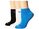 Nike Dri-FIT Cushion Quarter 3 Pack (Light Photo Blue/Hyper Grape/Black/Hyper Grape/White/Hyper Grape)