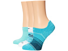 Nike Dri-Fit Graphic No-Show 3-Pair Pack (Dusty Cactus/Bleached Turquoise/Bleached Turquoise/White/White)