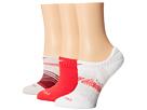 Nike Dri-Fit Graphic No-Show 3-Pair Pack (Lagoon/Action Red/Action Red/White/White/Action Red)