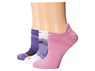 Nike Dri-Fit Graphic No-Show 3-Pair Pack (Purple Haze/Light Magenta/Light Magenta/White/White/Court Purple)